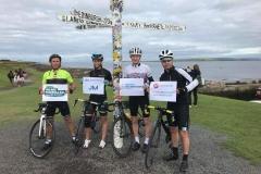 Cycling Fundraising Team: John O' Groats