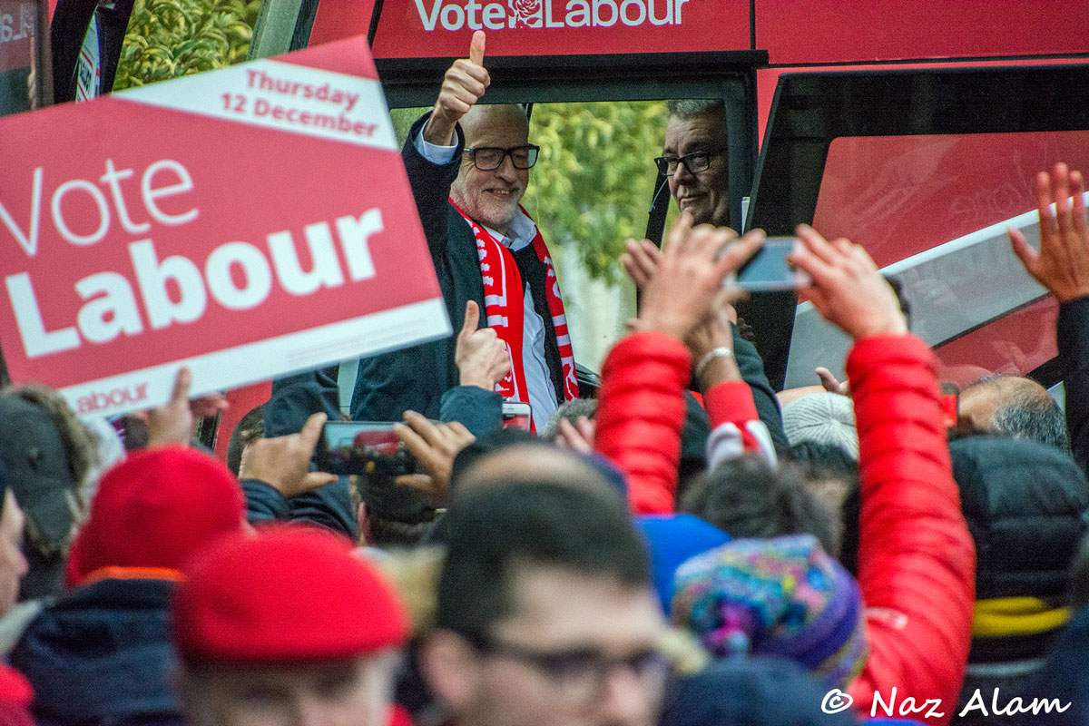 Labour Party: Jeremy Corbyn visit to Nelson 10 Dec 2019