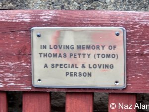 Bench plaque - Tomas Petty