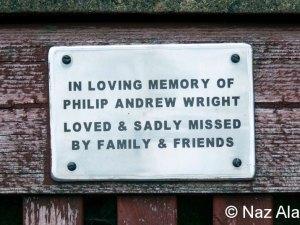 Bench plaque - Philip Wright