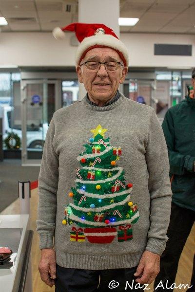 Santander Colne - Customer in  the festive spirit!