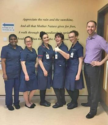 Sister Sharon Robinson & her team (Clitheroe Hospital)