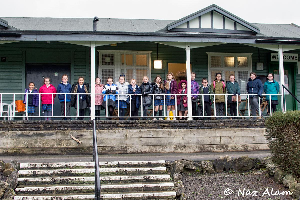 Park Primary - singing Pavilion Cafe